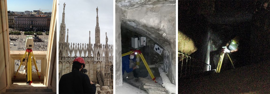 Pics of the indoor and outdoor survey of Duomo di Milano