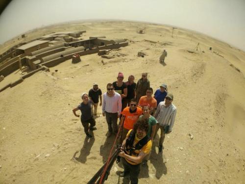 Selfie time in Saqqara