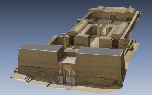 3D model of Maya's tomb