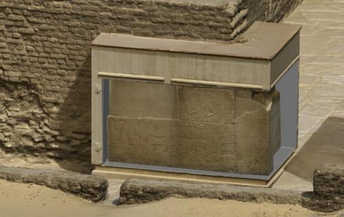 3D model of Maya's tomb. Detail.