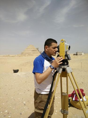 Alessandro Mandelli and the total station